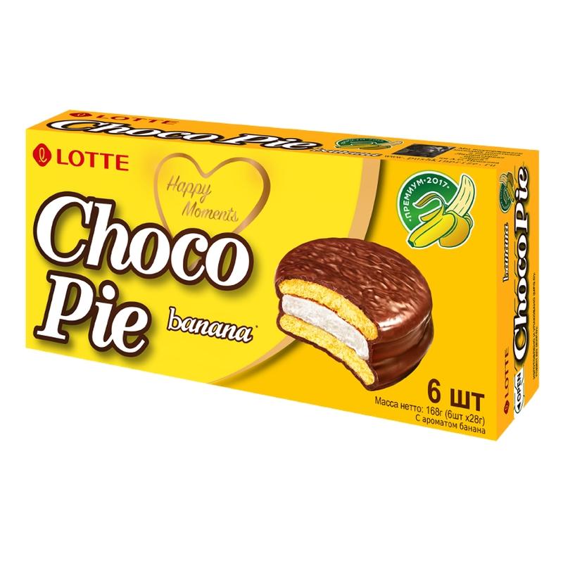 Печенье Lotte Choco Pie banana poster