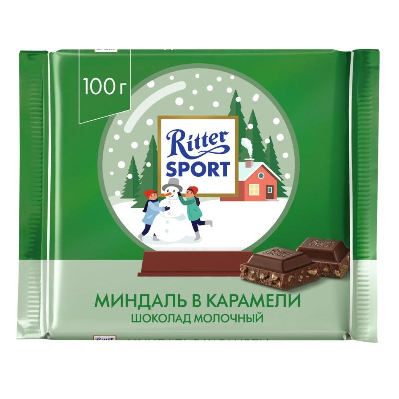 Шоколад Ritter Sport Миндаль в карамели poster