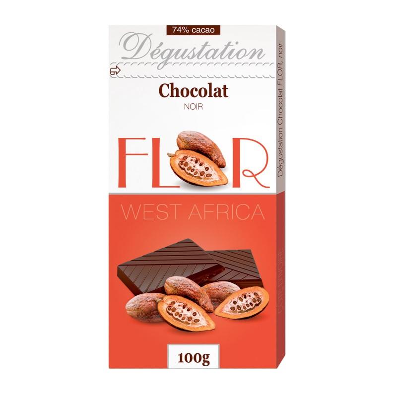 Шоколад Flor Degustation «Noir West Africa» постер