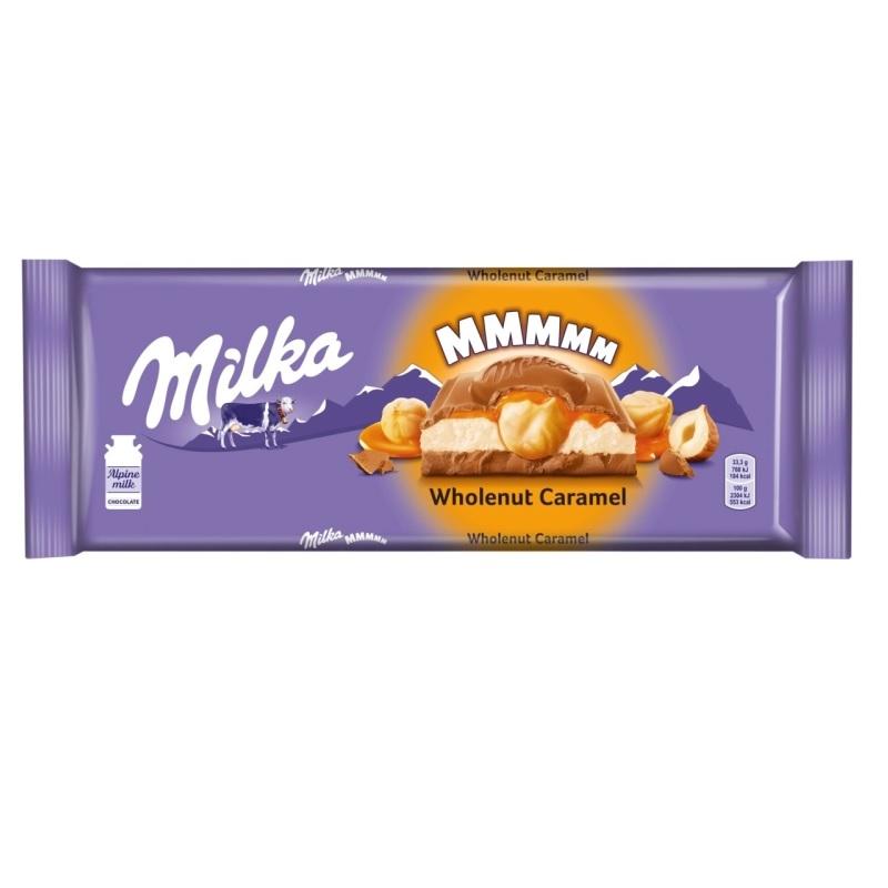 Шоколад Milka «С молочной и карамельной начинками и обжаренным фундуком» poster