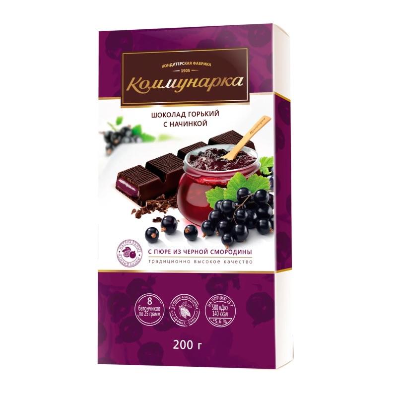 Шоколад Коммунарка Горький «Десертный с пюре из чёрной смородины» poster