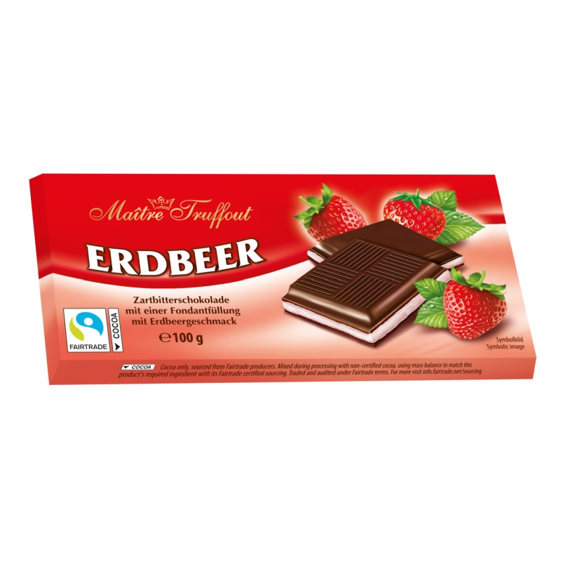 Шоколад Maitre Truffout «C помадной начинкой со вкусом клубники» poster