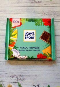 Шоколад Ritter Sport Кокос и вафля постер