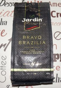 Кофе молотый Jardin Bravo Brazilia постер
