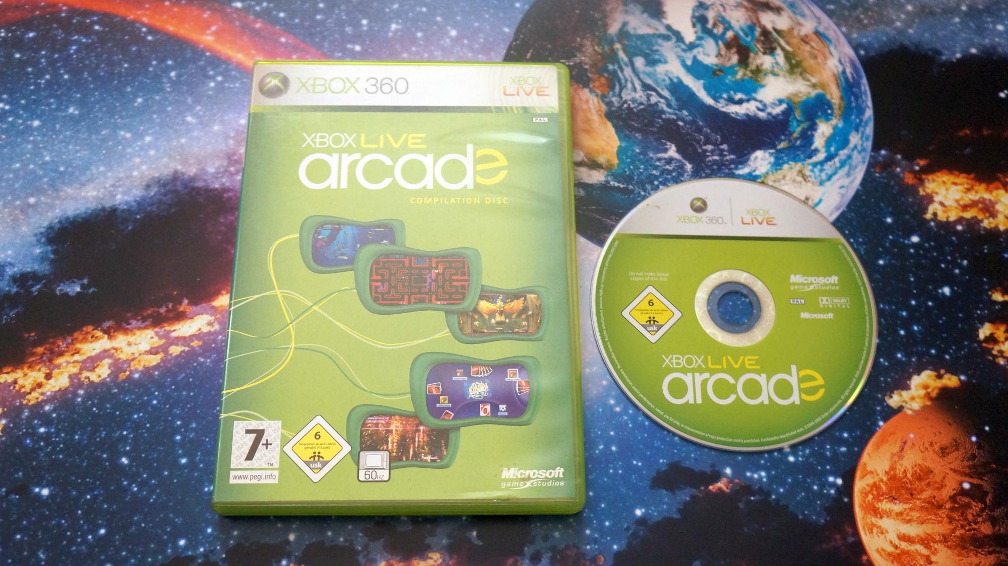 Игра для Luxor 2 фото коробки и диска Xbox Live Arcade Compilation disc